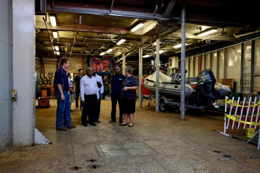 former png prime minister in cargo hall